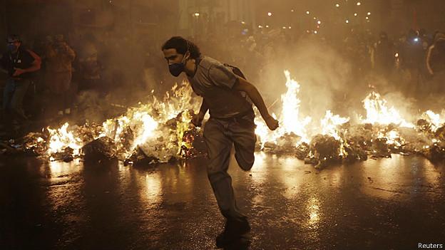 Violencia en las calles de Río