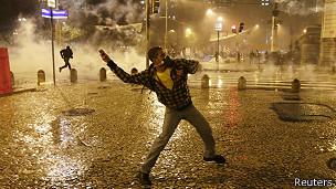 Protestas en Rio de Janeiro