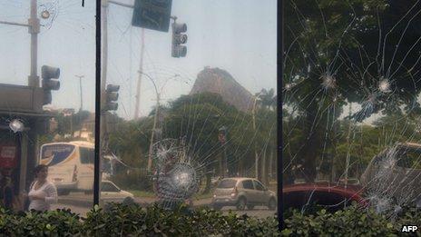 Disturbios en Río de Janeiro