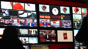 Cabina de control de la BBC
