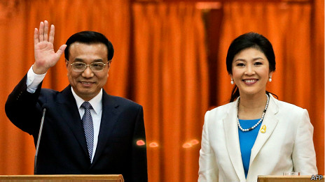 李克强与泰国总理英拉·西那瓦