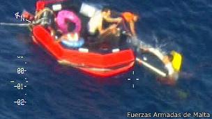 Operación de rescate en Lampedusa
