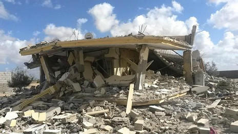 Edificio destruido en Sinaí