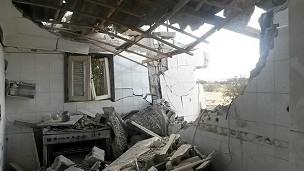 Casa después de un ataque