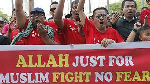 Protesta por la palabra Alá