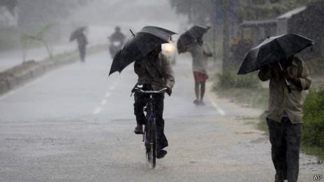 Chuvas fortes na Índia. Foto: AP