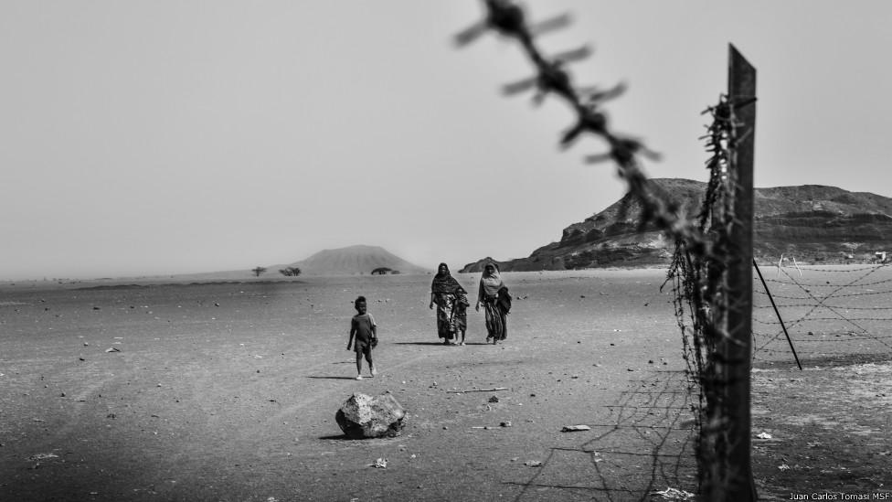 Nómadas en la región de Afar