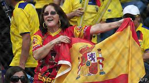 Simpatizante de la selección española de fútbol