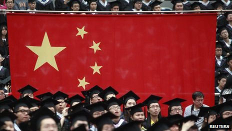 Estudantes da Universidade de Fudan, em Xangai (Reuters)