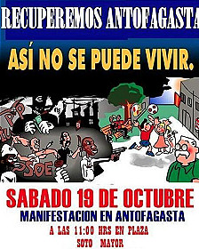 Cartel de convocatoria a la protesta
