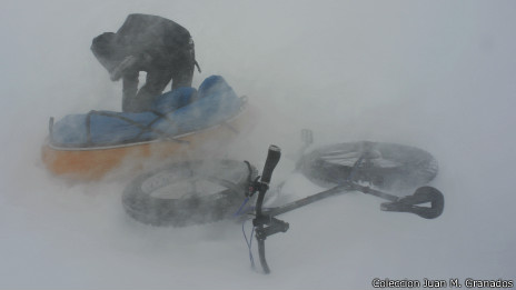 Tormenta de nieve en Groenlandia