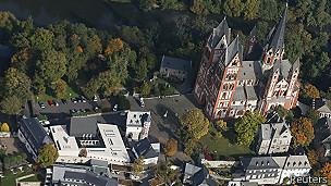 Vista aérea de la catedral de Limburg