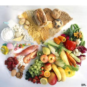 Ilustración de una dieta balanceada