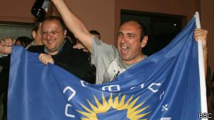 Сторонники Георгия Маргвелашвили празднуют его победу на выборах