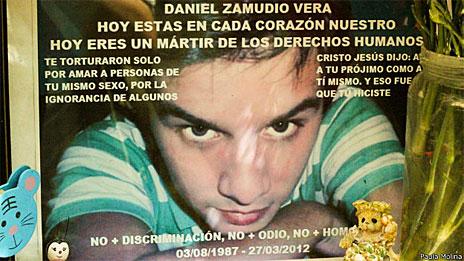 Homenagens a Daniel Zamudio (Foto: Paula Molina)