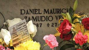 Nicho temporário de Daniel Zamudio (Foto: Paula Molina)