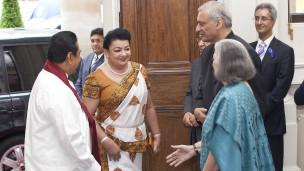 President Mahinda Rajapaksa with Kamalesh Sharma (file photo)