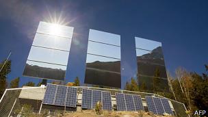 Espejos para reflejar el sol