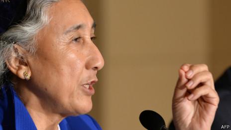 世界维吾尔人大会主席热比娅(20/06/2013)
