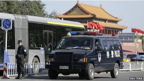 天安门撞车事件后,中国当局加强了保安措施