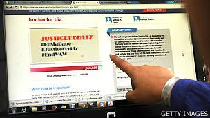 """Petición online """"Justicia para Liz"""""""