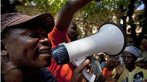 Manifestante en República Dominicana