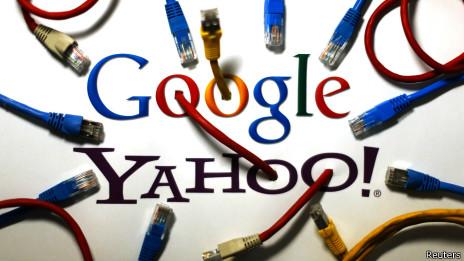 Logotipos de Google y Yahoo