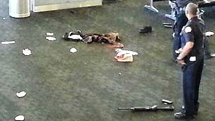 Escena del tiroteo