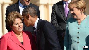 Dilma, Obama e Merkel