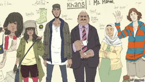 La familia Khan (Marvel Comics)