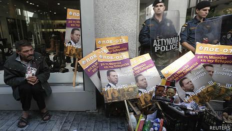 Protesta en las calles de Atenas