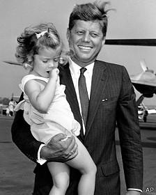 John F. Kennedy y su hija