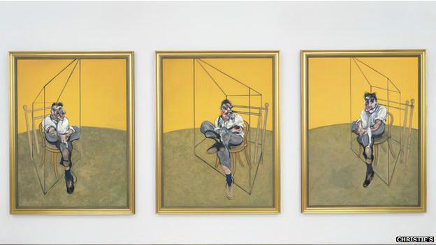 """""""Tres estudios de Lucian Freud"""", de Francis Bacon"""