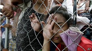 Damnificados en Filipinas