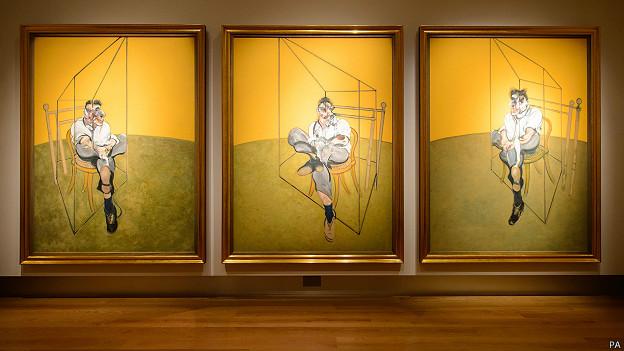 """Триптих Фрэнсиса Бэкона """"Три наброска к портрету Льюсена Фрейда"""""""