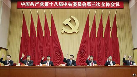 中共政治局七常委在十八届三中全会会议上(12/11/2013)