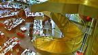 Escaleras sala de redacción de la BBC