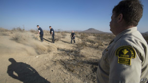 Fosa en el desierto