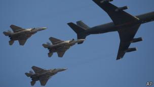 Израильские самолеты - заправка в воздухе