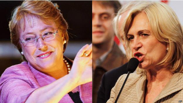 Michellet Bachelet e Evelyn Matthei. Foto: AP