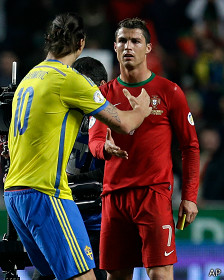 Abrahimovic y Ronaldo
