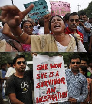 Manifestantes en Delhi, 2013