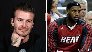 Beckham y LeBron