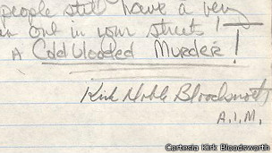 carta de Kirk Bloodworth