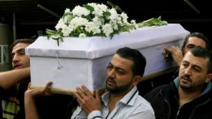 Funeral de un niño en Damasco