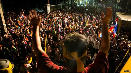 Người biểu tình ở Thái Lan hôm 25/11/2013