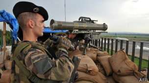 Soldado francés en la República Centroafricana
