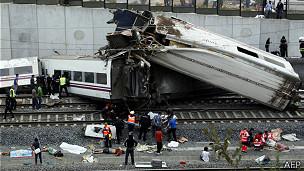 Accidente de tren en Santiago de Compostela