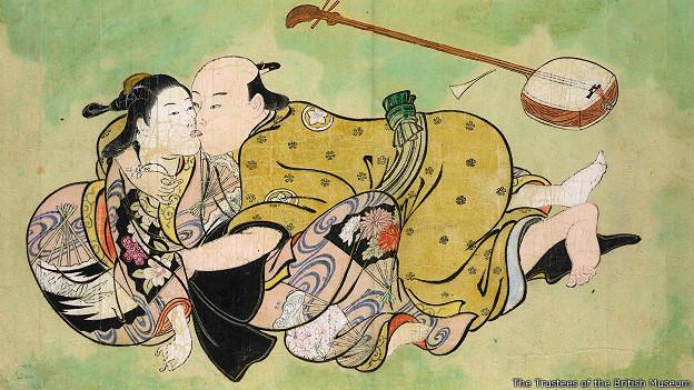 Сексуальная игра мужчины и гейши
