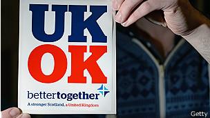 Un cartel que dice UK OK
